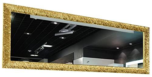 GaviaStore - Julie - Specchio moderno da parete disponibile in 12 formati e colori - lungo figura intera alto grande decor soggiorno modern sala paret camera bagno ingresso (Oro, 140x50 cm)