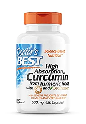 Doctor's Best - High Absorption Curcumin from Turmeric Root 500 mg. - 120 Capsules from Doctor's Best
