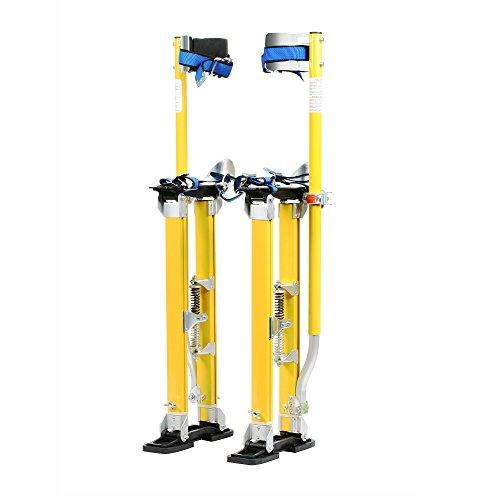 1152 Pentagon Tool Mag Pros Magnesium 24-40 Yellow Drywall Stilts