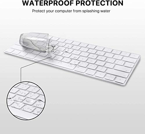 OJOS Magic Keyboard Cover Skin Protector, Fit for Apple iMac Magic Keyboard MLA22LL/A A1644 - Clear TPU