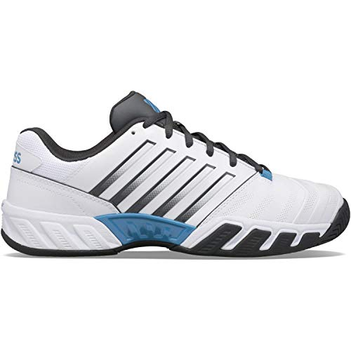 K-Swiss Performance Herren Bigshot Light 4 Tennisschuh, White/Dark Shadow/Swedish Blue, 43 EU