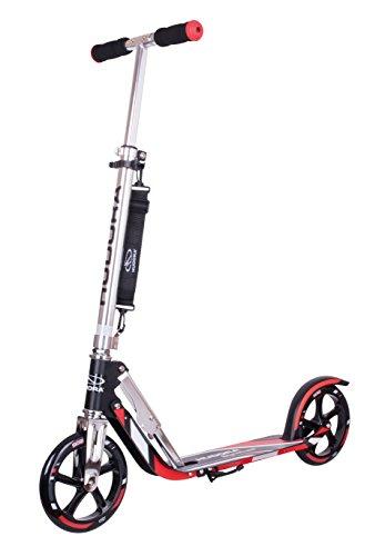 HUDORA 14758 BigWheel 205-Das Original mit RX Pro Technologie-Tret-Roller klappbar-City-Scooter, rot/schwarz