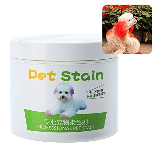 Asdf586io Dog Accessories, 100ml Professional Pet Stain Anti Allergic Cat Dog Hair Dye Cream Coloring Agent - Flame Red