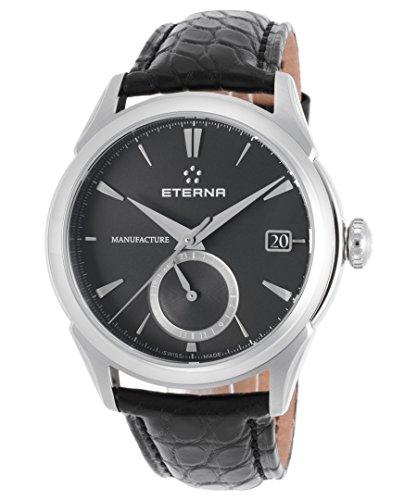 Eterna Soleure Herren-Armbanduhr 43mm Armband Aligatorleder Schwarz Schweizer Automatik 7680-41-41-1175