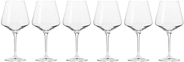 Krosno KR0250 Avant-Garde Wine Glass 6 Pieces Set, 460 ml Capacity, Clear