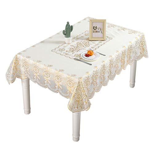 Mingtongli Oilproofed Tischtuch Rechteck PVC-Tischdecke Wasserdicht Tisch Küche ESS-Raum-Dekor, 120x160cm