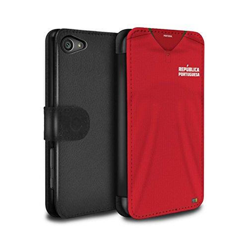 Stuff4 PU-Leder Hülle/Case/Tasche/Cover für Sony Xperia Z5 Compact/4.6 / Portugal/Portugiesisch Muster/Weltmeisterschaft 2018 Fußball Trikot Kollektion