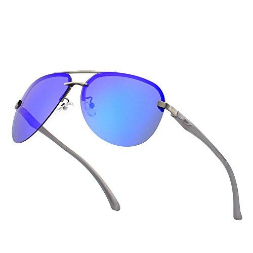 CGID Polarisierte UV400 Schutz Spiegelnde Pr?mie Al MG Tempel Rahmenlos Pilot Sonnenbrille Pilotenbrille F¨¹r Damen GA43