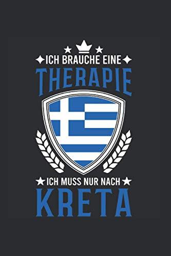 Kreta Reise Notizbuch: Kreta Griechenland Urlaub Reise Geschenk / 6x9 Zoll / 120 gepunktete Seiten