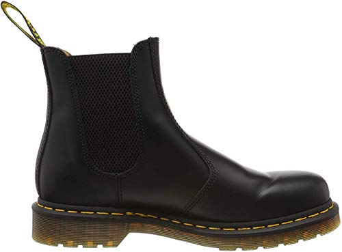 Dr. Martens Unisex 2976 Smooth Leather Pull On Chlesea Boot Black-Black-4 Size 4