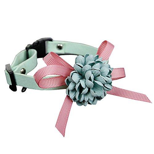 Yowablo Hundehalsband katzenhalsband Haustierhalsbänder Haustier Kragen Haustier Sicherheit Kragen Hunde Halsband Katzen Halsband Pet (1 * 15-22cm,Grün)