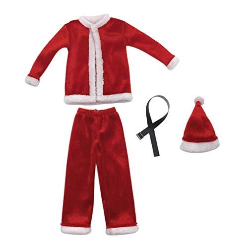 T TOOYFUL 1: 6 Cappello di Natale Cappello di Babbo Natale E Vestiti per Figure da 12 '' HT / Phicen / Kumik