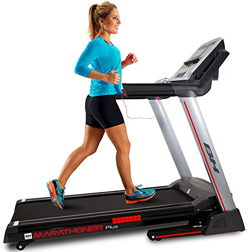 BH Fitness Marathoner Plus Cinta de Correr, Adultos Unisex, Negro, Talla Única