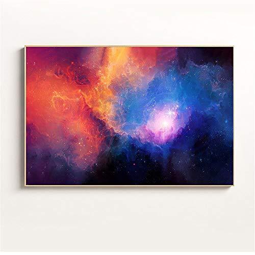 Colorido Galaxia Nebulosa Espacio Astronomía Universo Cielo estrellado Planetas Remolino Estrellas Nubes Lienzo Pintura Arte de la pared Póster Sala de estar Estudio Decoración para el hogar