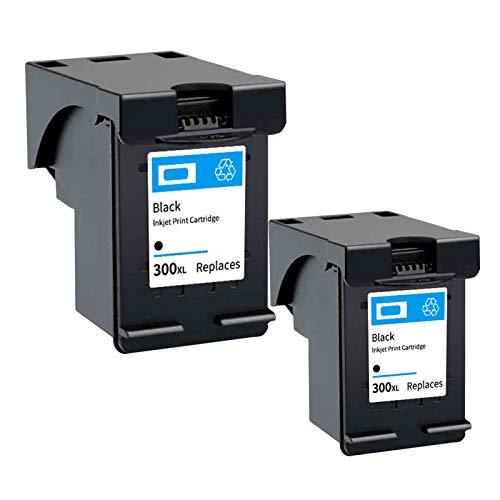 Cartuchos de tinta de color negro compatibles 300XL para impresora HP Deskjet C4680 C4780 D1660 D2530 D2560 D2660 2*negro