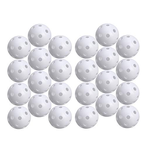 STOBOK 24pcs perforierte Spiel-Balls Höhlen-Golf-Praxis-Trainings-Sport-Bälle (weiß)