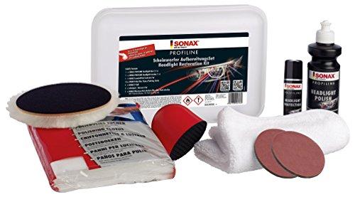 SONAX PROFILINE koplampreparatieset (325 ml) Reproductie van vergelde en doffe koplampafdekkingen van kunststof | art.nr. 04057410