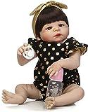 Reborn Baby Doll muñecas realistas Reborn Dolls African American Full Plastic Simulation Baby Rebirth Doll Los niños juegan a las casas Los juguetes se pueden bañar en una muñeca de plástico suave 57