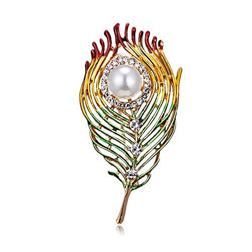 KXHZJM Fashion email veer broche voor mannen sieraden kristal pin broches parel Kerstmis Hijab accessoires vrouwen broches pins