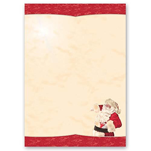 Papel de carta Navidad St Nicholas PAPÁ NOEL - MOTIVO - 250 Hojas formato DIN A4 - Paper-Media