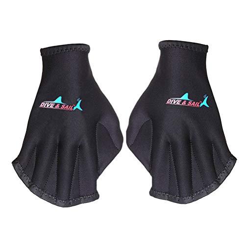 HAPPYX Oberkörperwiderstand Schwimmhandschuhe, Aquatic Handschuhe für den Oberkörperwiderstand, Neoprenhandschuhe offen Wasser Training, Wasserdicht Neopren Webbed, 1 Paar