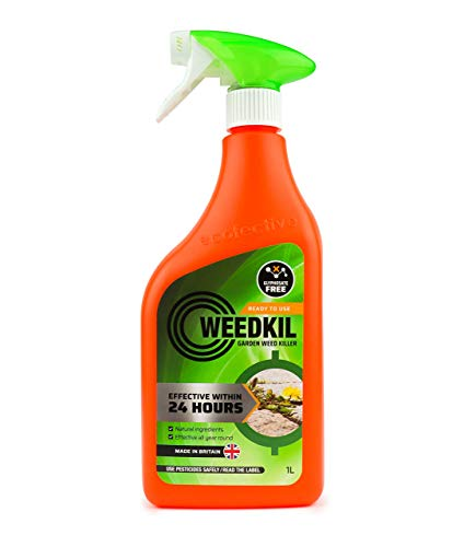 WeedKil Glyphosate Free Weed Killer 1 Litre - Fast Acting Organic, Natural...
