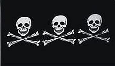 U24 vlag vlag piraat 3 doodskoppen 90 x 150 cm