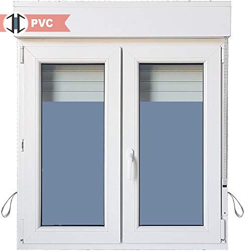 Ventana PVC Practicable Oscilobatiente 2 hojas con Persiana (PVC) 1000 ancho x 1155 alto