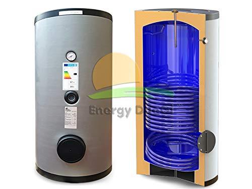 Bollitore accumulo vetrificato 200 lt, uno scambiatore fisso per produzione acqua calda sanitaria solare termico