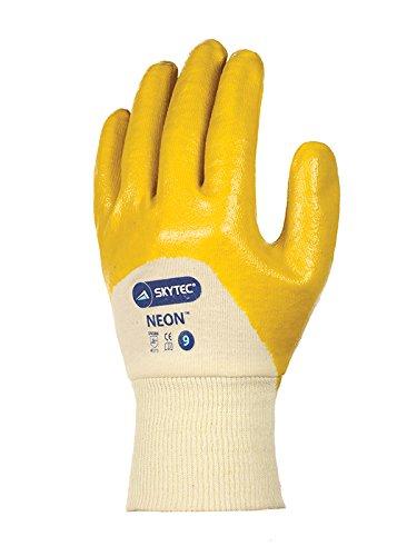 Skytec Handschuhe sky24-l Neon Handschuh, Größe: L, gelb/creme (2Stück)