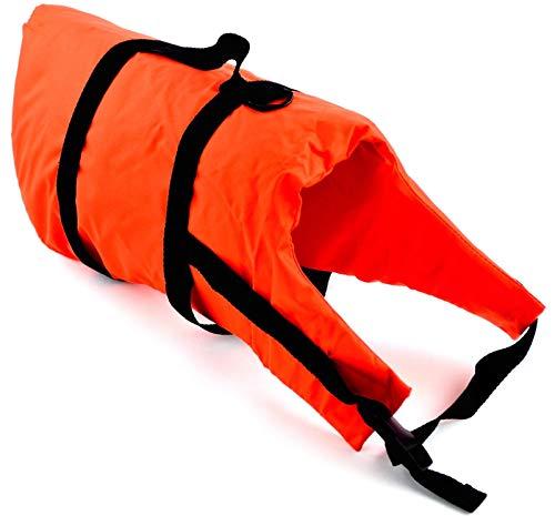 wellenshop Lalizas Hunde-Schwimmweste Gewicht 40+ kg Brustumfang 46-82 cm Polyethylen Nylon Orange Bergegriff Hunde-Rettungsweste