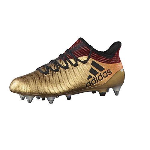 adidas Herren X 17.1 SG Fußballschuhe, Gold Tagome Cblack Solred, 42 EU