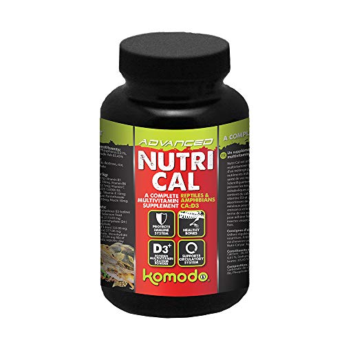 Komodo Nutri-Cal, 75 g, Multivitamin Supplement for Reptiles & Amphibians