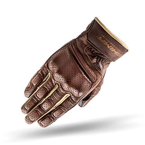 SHIMA Aviator Herren Leder Motorradhandschuhe Custom Sommer Motorrad handschuhe (S-XXL, Braun), Größe XXL
