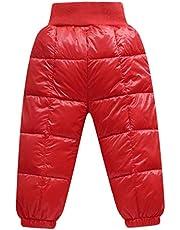Bebé Pantalones de Plumón Niños Niñas Invierno Ligero Cálido Pantalones Deportivos Pantalón Esquí