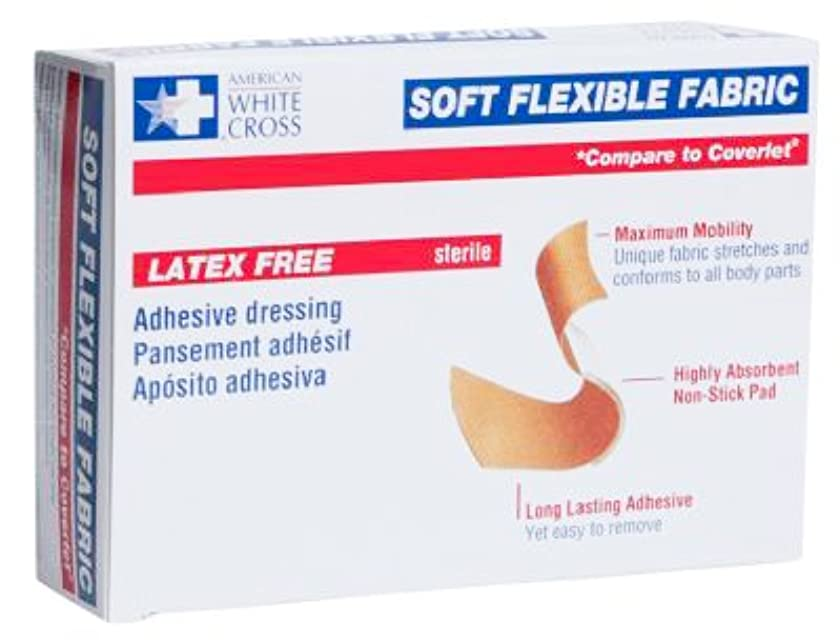 American White Cross Adhesive Soft Flexible Fabric Bandage, 3/4 Inches X 3 Inches Sterile (200)