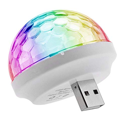 Campark USB Disco Light, Car Atmosphere Light Music Activated, Multi-Colored Disco DJ Light, Mini Portable Strobe Light for Kid's Birthday Parties Christmas Decoration