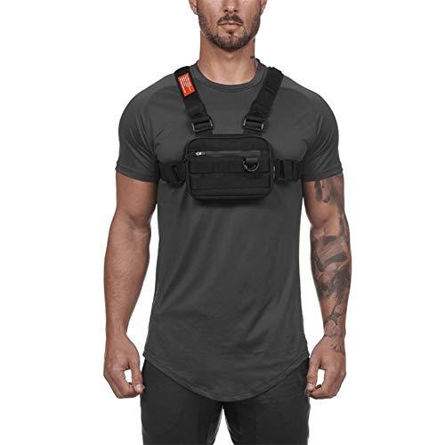 Balight 1 PCS Hommes Sac De Taille Tactique Tactique Gilet Poitrine Pack Hip Hop Fonction Poitrine Rig Pack 3 Couleurs