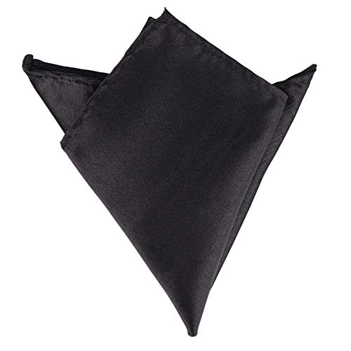 YAYANG Corbata de hombre de 15 colores para hombre, pañuelo blanco, para bolsillo, accesorios de boda, banquetes de aniversario, comercial, negro, rojo, azul (color: negro)