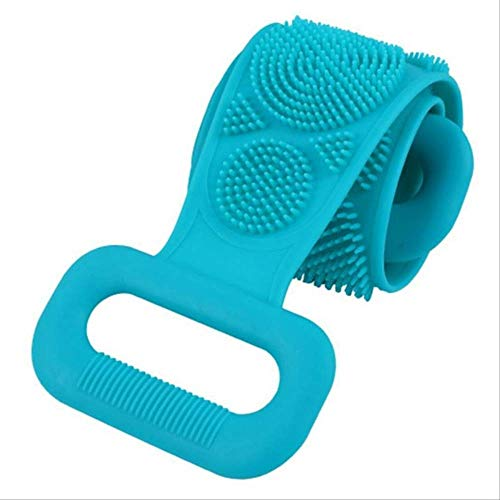 Brosse En Silicone Serviette De Bain Essuyer Le Dos Boue Peeling Body Shower Magic Brush Flexible Scrubber Nettoyage De Salle De Bain Taille Unique F