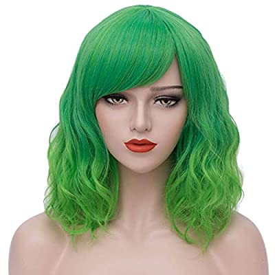 Mersi Short Wigs for Women Girls Colorful Cosplay Costume Wigs for Halloween S042Z