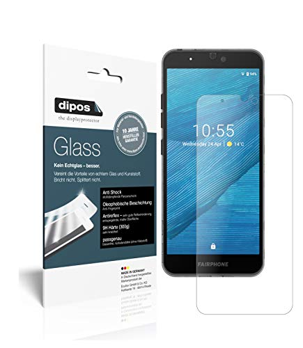 dipos I 2X Protector de Pantalla Mate Compatible con Fairphone 3 Vidrio Flexible Cristal Proteccion 9H