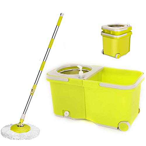 Umien Spin Mop and Bucket Sytem – 360° Self Wringing Spinning Mop with...