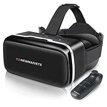 VR Headset Compatible with iPhone & Android Phone VR Headsets with Remote Controller Eye Protected Virtual Reality VR Set Adjustable 3D VR Glasses Goggles Gift for Kids and Adults