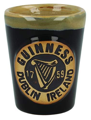 Offizielles Guinness Pottery Schnaps-Messgerät mit Harfen-Logo-Design