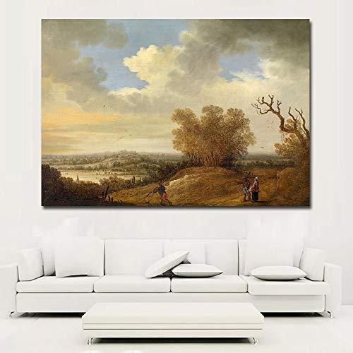 KWzEQ Leinwanddrucke Russische Landschaft Wandkunst Bild Wohnzimmer Wohnkultur30x45cmRahmenlose Malerei