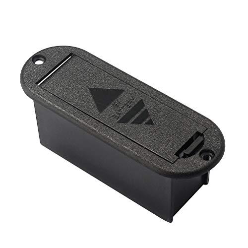 Healifty Custodia porta batterie professionale 9V per chitarra attiva Bass Pickup Use (Nero)