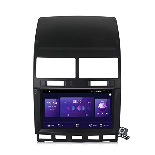 Buladala Android 10 GPS Navigation Stereo Radio para Volkswagen Touareg 2002-2010, 9' Pantalla Coche Media Player Soporte Carpaly/5G FM RDS/Control Volante/Bluetooth Hands-Free,7862: 6+128