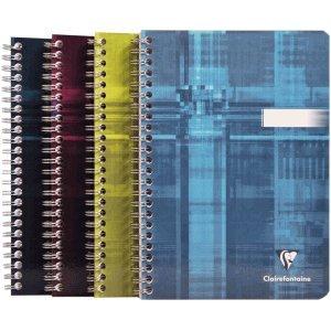 Clairefontaine 5 x Spiralbuch A5 kariert 90 Blatt farbig sortiert