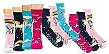 TippTexx 24 6 Paar Kinder Thermo Stoppersocken, ABS Socken für Mädchen und Jungen, Ökotex Standard, Strümpfe mit Noppensohle, viele Muster (Einhorn, 19-22)